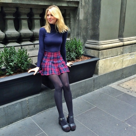 d75cbbef5f American Apparel Skirts | Matilda Plaid Tennis Skirt | Poshmark